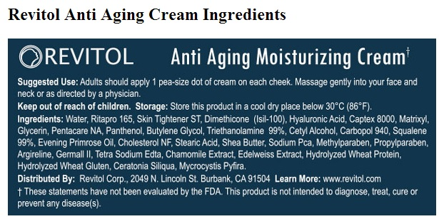 Revitol-phytoceramides-ingredients-cream